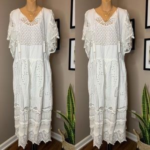 Free People Place Nationale Crochet Maxi Dress